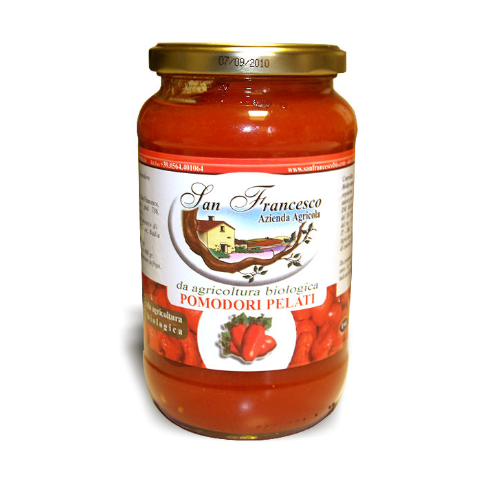 vendita prodotti biologici online   pomodori pelati   azienda san